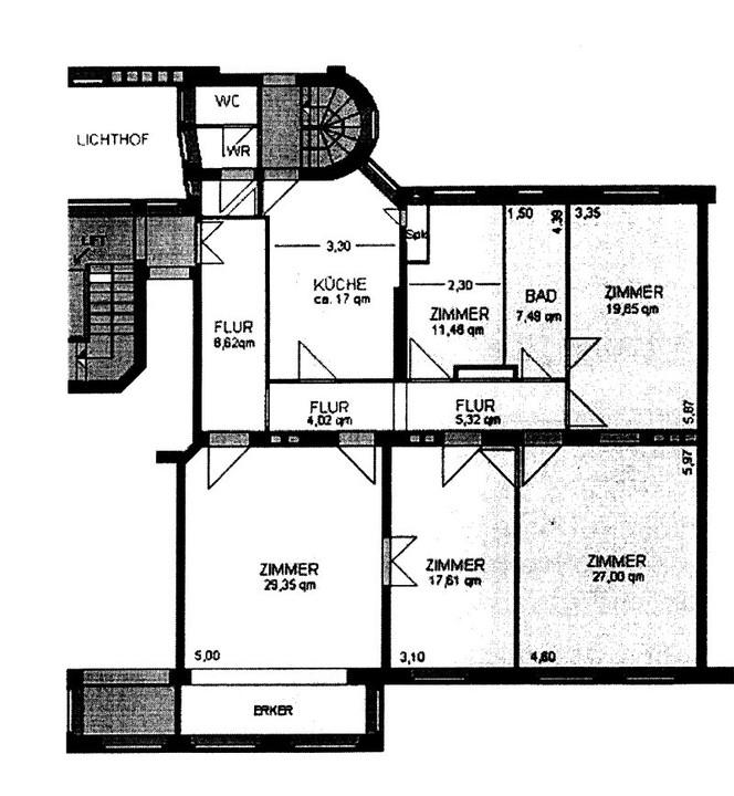 Ruhiglage Olivaer Platznah ! Herrschaftliche 5 Zimmer Jugendstiltbauwohnung - Grundriss